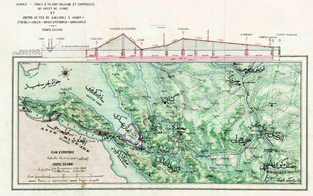 138 yıl önce Çanakkale Köprüsü Liman Haritası
