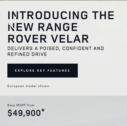 Yeni Range Rover Velar Satış Fiyatı