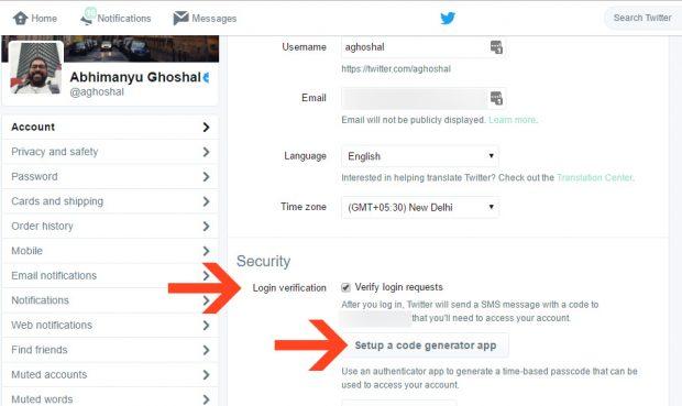 Twitter iki Faktörlü Doğrulama Özelliği ile Hesabınız artık Daha Güvenli
