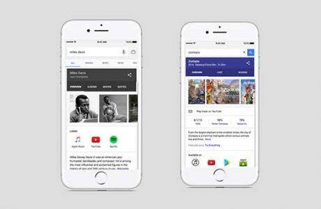 Google iOS Artık: Film, Müzik ve Tv Programlarını Bulacak