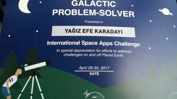 NASA SPACE APP CHALLENGE'ta OrtaOkul Öğrencisi 1. Oldu