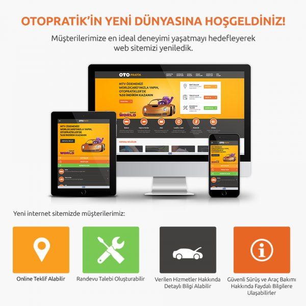 OtoPratik Web Sitesi Yenilendi, Araç Sahiplerine 360 Derece Hizmet