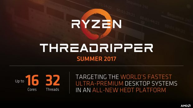 Ryzen Threadripper 16 Cores/32 Threads, AMD'nin Yeni Ultimate CPU'su