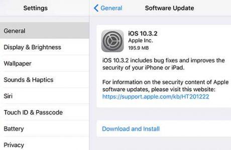 Apple iOS 10.3.2 Güncellemesini Yayınladı!