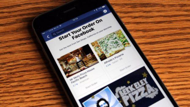 Facebook Yemek Siparişi Seçeneği Sunmaya Başlıyor