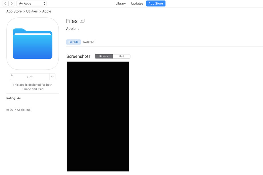 iOS 11 Uyumlu Apple Dosyalar Uygulaması, Apple Store'da Yerini Aldı