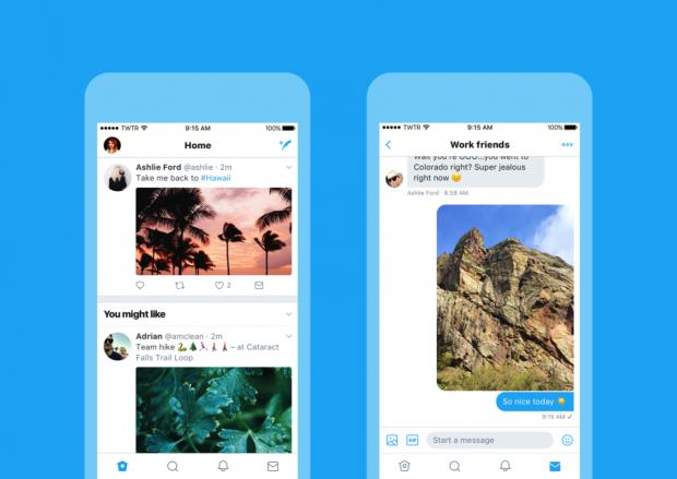 Twitter Yeni Tasarımı, Yuvarlak Profil Fotoğrafları ve Canlı Yayın Güncellemeleri