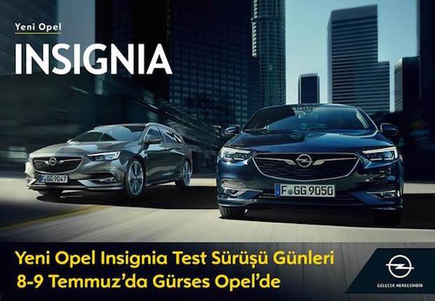 Insignia Test Sürüşü Günleri, 8-9 Temmuz'da Gürses Opel'de