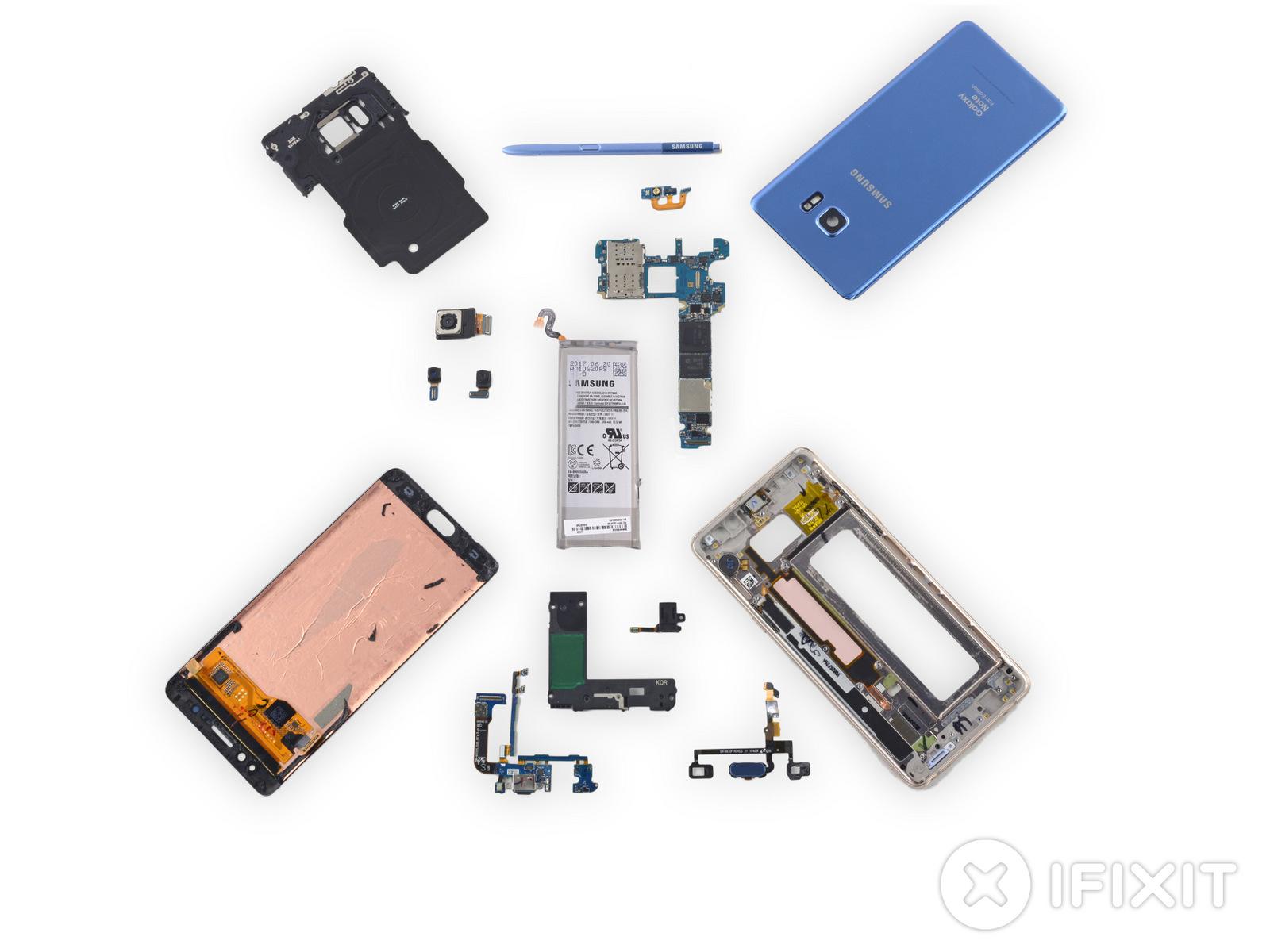 iFixit Galaxy Note Fan Edition'ın Bataryasını Çıkardı, Sürpriz Var?