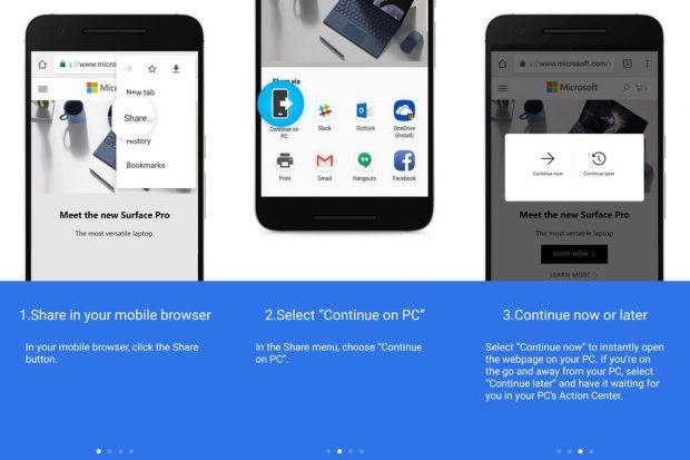 Windows 10 Preview Android Telefonu PC'ye Bağladı
