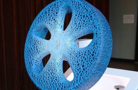 Michelin'in 3D Baskılı Havasız Otomobil Lastiği, Organik ve Geri Dönüşümlü