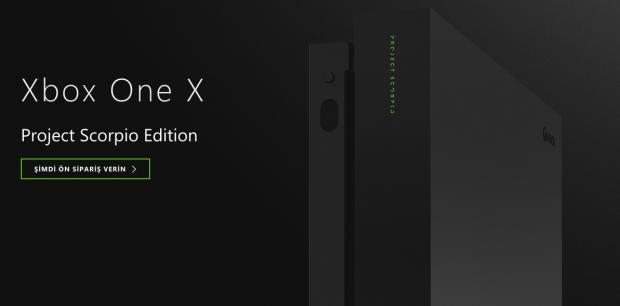 Xbox One X Project Scorpio Edition Türkiye Fiyatı 2899 TL