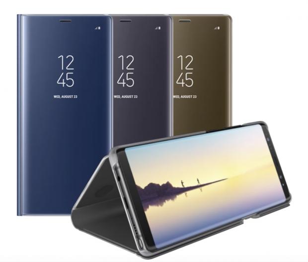 Galaxy Note 8 Clear View Kapaklı Kılıf