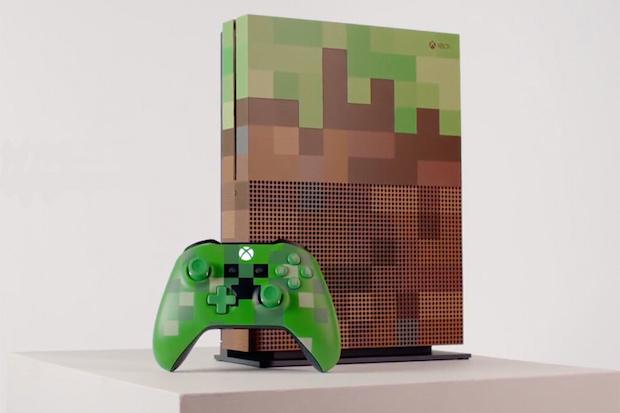 Microsoft XBox One S Minecraft Edition'ı Duyurdu, Blok Temalı Konsol