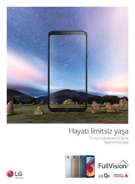 LG Q6 Türkiye'de Satışa Çıktı, FullVision Kalitesi 1299 TL