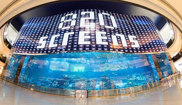 Dev Boyutlu 820 Ekrandan Oluşan LG OLED VideoWall Sistemi