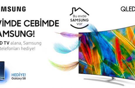 Samsung QLED TV Alana Galaxy S8 Hediye Kampanyası