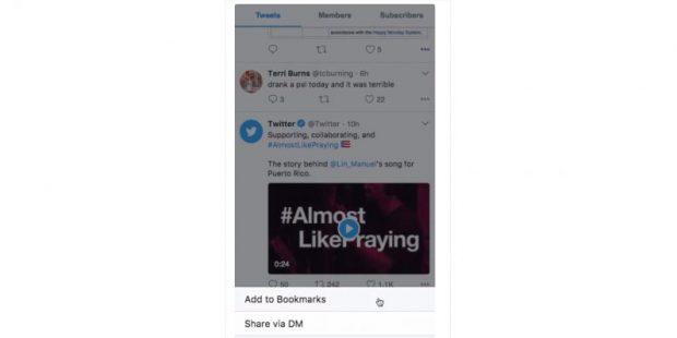 Twitter Sonrası için Kaydet Düğmesi Üzerinde Çalışıyor