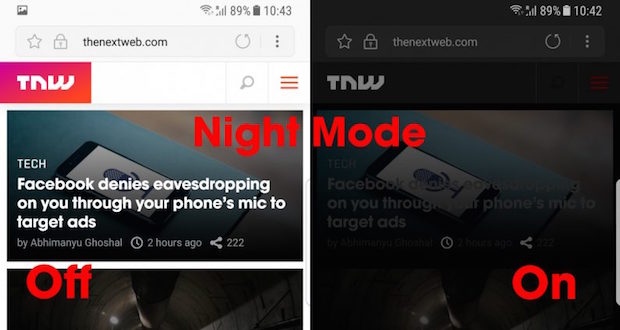 Samsung Internet Tarayıcısına Gece Modu Getirdi, Gözleriniz Yorulmayacak