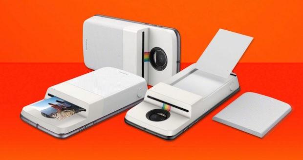 Motorola'nın Yeni Polaroid Baskı Modu, Telefonun Arkasına Renkli Yazıcı