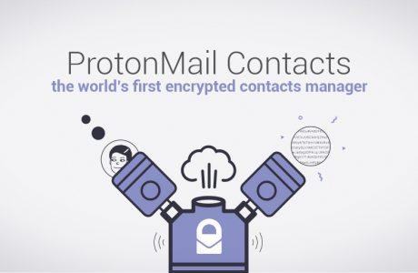 Şifreli ProtonMail Contacts, Dünyanın ilk Şifreli Rehber Yöneticisi