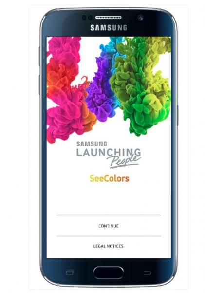 samsung seecolors uygulaması