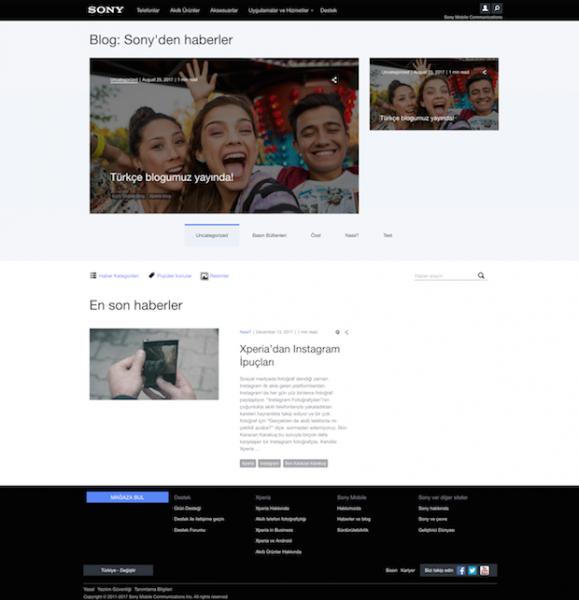 Sony Mobile Türkçe Blog