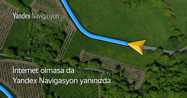 Yandex Navi ÇevrimDışı Navigasyon Özelliği