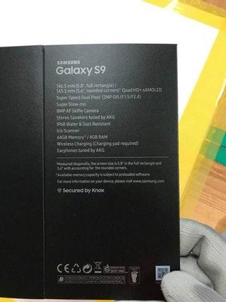 Samsung Galaxy S9 Kutu - Galaxy S9 Box