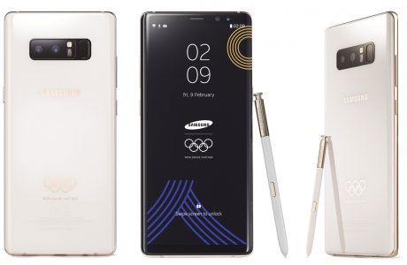 Galaxy Note 8 2018 Winter Olympics Edition, Beyaz Kar Gibi Cam Tasarım