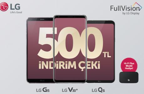 LG'den Akıllı Telefon Alana 500 TL İNDİRİM ÇEKİ, Sevgililer Günü Fırsatı
