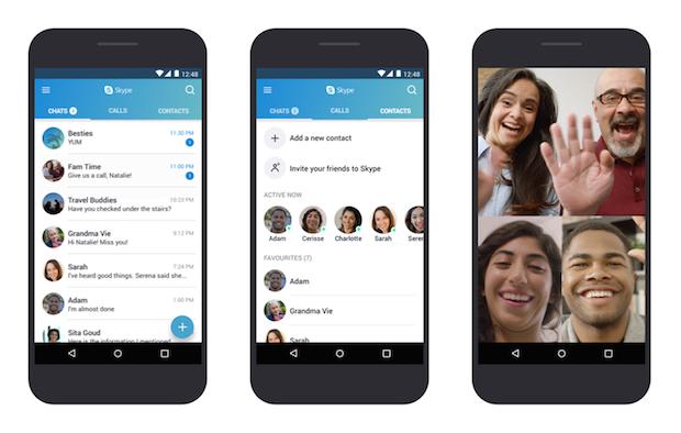 Skype Düşük Bütçeli Android Telefonlar için Optimize Edildi