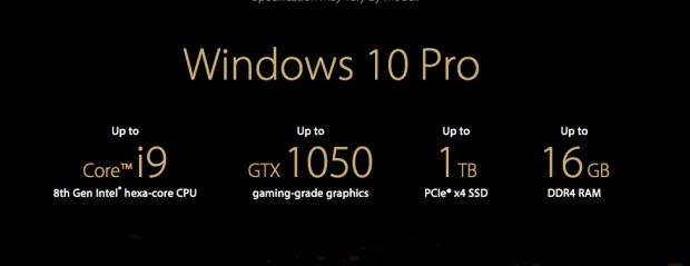 ASUS ZenBook Pro 15 UX550GD, Intel i9 CPU ve 4K Ekrana Sahip
