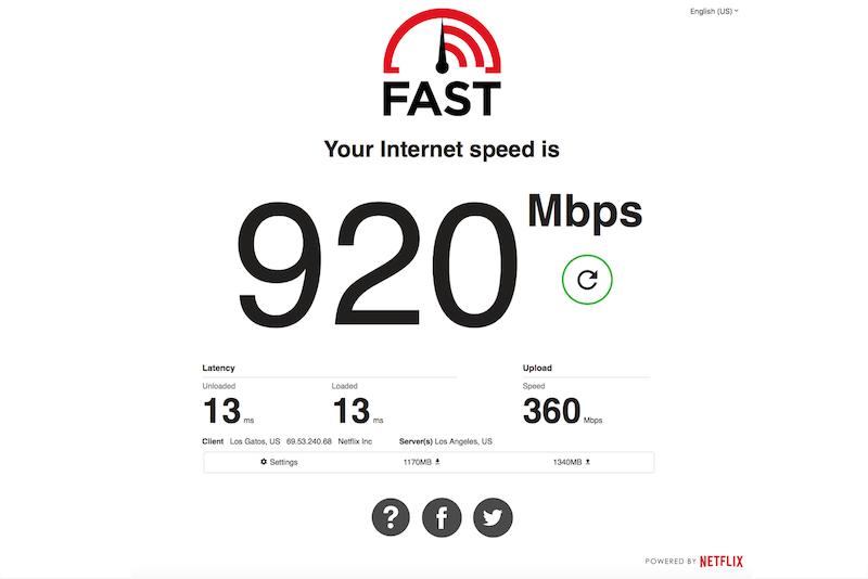 NetFlix Fast.com Yenilendi, Yükleme Hızını ve Gecikmeyi de Ölçüyor