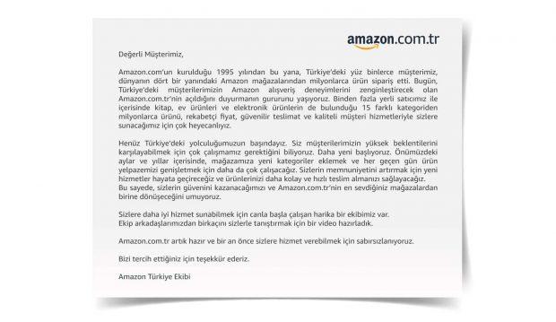 Amazon Türkiye - Amazon.com.tr adresi üzerinden e-ticaret Devi Türkiye'de Faaliyetlerine Başladı.