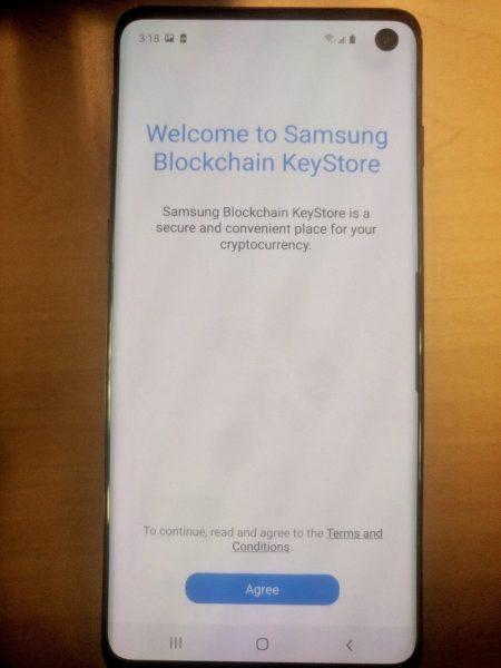 Samsung Galaxy S10 Kripto Para Cüzdanı