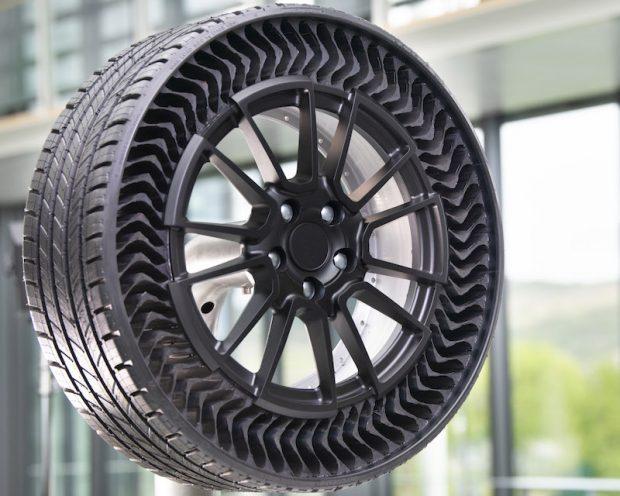 Binek Otomobiller için Havasız Lastik Teknolojisi Michelin UPTIS