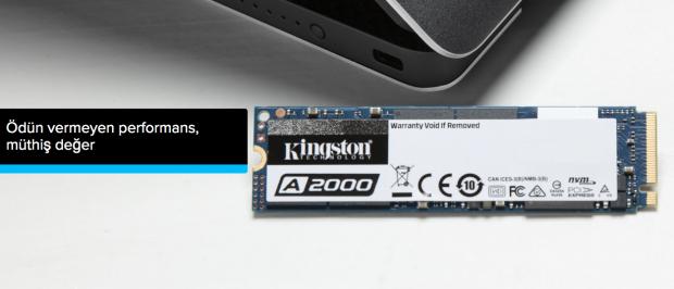 Kingston'dan Ultra Yüksek Performanslı PCIe NVMe SSD A2000