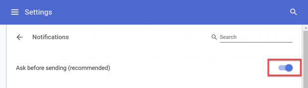 Chrome Bildirimlerini Devre Dışı Bırakma