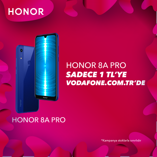 Honor 8A Pro 1 TL'ye Vodafone.com.tr