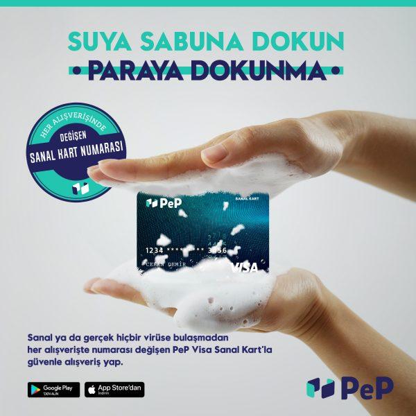 PeP Visa Sanal Kart ile online alışverişler daha güvenli