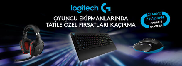 22 Mayıs tarihinden itibaren Logitech G'nin belirtilen ürünlerinde geçerli avantajlardan tüm seçkin teknoloji marketlerinde