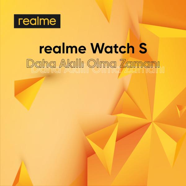 Yeni kişisel sağlık asistanınız realme Watch S satışta!