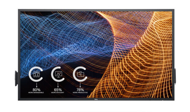 Dell 65-inch (Model C6522QT) interactive touch monitor.